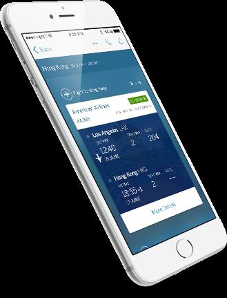 App für Geschäftsreisen American Express Global Business Travel